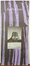 1975 Devil's Tower Wyoming vintage informational brochure & map b