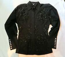 Gianfranco Ferre Black Appliqué Shirt