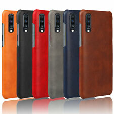 For Samsung Galaxy A70 A50 A40 A30 Retro PU Leather Skin PC Hard Slim Cover Case