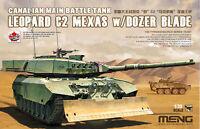 MENG Model TS-041 Canadian Main Battle Tank Leopard C2 MEXAS w/Dozer Blade Stock