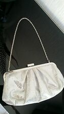 LOVELY PROM SILVER METALLIC EVENING BAG CLUTCH FROM NEXT 10 X 5