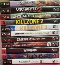 Playstation 3 Bundle Lot Of 11 Ps3 Games Uncharted, Call Of Duty, Kill Zone Game