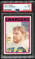 ⚡️⚡️1972 Topps Football #63 WALT SWEENEY San Diego Chargers PSA 6 EX-MT⚡️⚡️