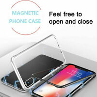 Magnetic Adsorption Metal Case 9H Tempered Glass Cover For Apple iPhone 11 Pro