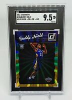 2016-17 Donruss Buddy Hield RC Rookie Green & Yellow Holo Laser SGC 9.5 Comp PSA