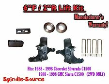 "1988 -1998 Chevy GMC C15 C1500 C2500 2WD 6"" / 2"" Spindle Blocks Spacer Lift Kit"