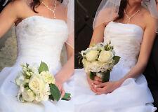Traumhaft schönes Brautkleid Hochzeitskleid - Amera Vera - Größe 34 - reinweiß