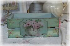 ~ Shabby Chic Wooden Stacking Box French Vintage Style Romantic Decor ~
