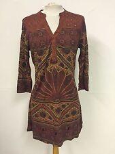 Next Brick Mix Print Embellished Detail Jersey Tunic Dress (B11)