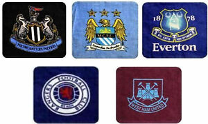 Football Face Cloth Man City Everton Newcastle West Ham Rangers Pack of 4