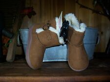 FADED GLORY TODDLER GIRLS BOOTS SIZE 7 HEART SHAPPED BUCKLE INSULATED KIDS SHOES