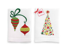 Gift STAR TREE ORNAMENT TOWELS SET OF 2 Holliberrie New 122449