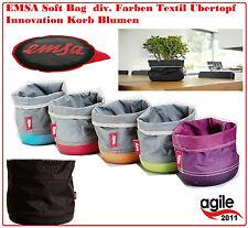 EMSA Soft Bag 15cm x 17 c div. Brotkorb  Geschenkkorb Blumentopf Korb Blumen Neu
