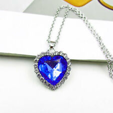 Blue pendant The Heart of the Ocean Blue Diamond Style Necklace Pendant Gift
