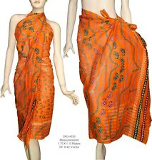 100% Cotton Multi Color Beach Scarf Sarong Wrap Bikini Cover Up Swimwear 4530