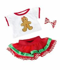 "XMAS CHRISTMAS GINGERBREAD OUTFIT FITS 16""/40CM  TEDDIES & BUILD YOUR OWN BEAR"
