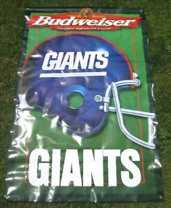 Large Budweiser New York Giants Banner 4' x 6' Excellent Condition!