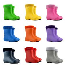 Kids Boys Girls Wellington Boots Wellies Rainy Winter Boots EUR 22-35 / UK 5-2.5