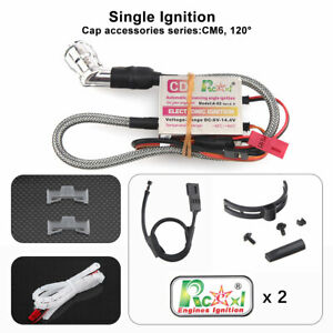Rcexl Single Ignition CDI For NGK CM6-10MM 120 Degree DA Gas Engine RC Airplane