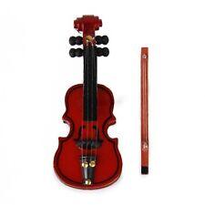 1/12 casa de muñecas en miniatura accesorios Instrumento Musical Violín De Madera De Caoba