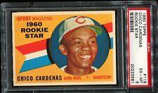 1960 Topps Baseball #119 CHICO CARDENAS Cincinnati Reds RC ROOKIE PSA 6 EX-MT