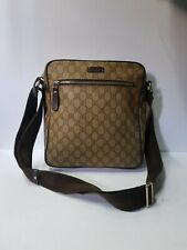 Gucci GG Pattern Pvc Beige Crossbody Bag
