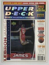LeBron James 2003 Upper Deck Magazine with RC Inside Uncut Sheet