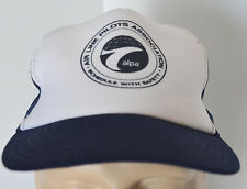 VTG Air Line Pilots ALPA Snapback Hat Blue Baseball Ball Cap Lid Union Made USA