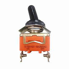 AC 250V 15A Amps ON/OFF 2 Position SPST Toggle Switch With Waterproof Boot ED