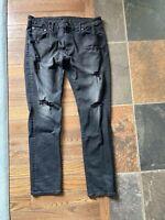American Eagle Mens Next Level Flex Straight Slim Pant Black Size 36W X 32L