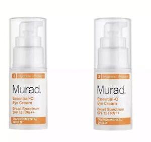 2-Murad Essential-C Eye Cream SPF15 PA++ 0.5 fl oz / 15mL x 2 AUTH