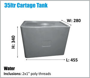 WATER TANK. 35LTR 4X4 UTE COMPACT BPA FREE POTABLE WATER. ASK FOR FREIGHT PRICE.