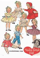 "Pattern Doll Clothes 8813 for 12"" Shirley Temple Judy Garland Lingerie Lou Ideal"