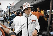 Niki Lauda SIGNED 12x8 F1 BRM Portrait , German GP 1973
