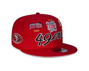 San Francisco 49ers New Era Multi Logo Super Bowl Champions 9FIFTY Snapback Hat