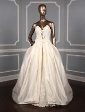 Francesca Miranda Etna Strapless Lace Wedding Dress Ivory Separate Overskirt 10