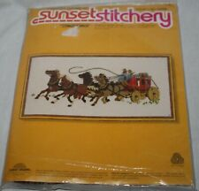 "Vintage 1978  Sunset Stitchery Kit  ""Stagecoach"" #2550"