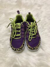 Supra Women's Athletic Running Leopard Purple Sneakers Size 7.5