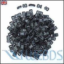 "100 pcs X 10mm 3/8"" Survival Paracord Bracelets Curved Side Release Buckles"