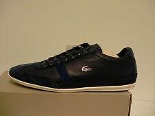 49036422a8d7 Lacoste Men Shoes Misano 33 SPM Casual Dark Blue Leather suede Size 10.5 US