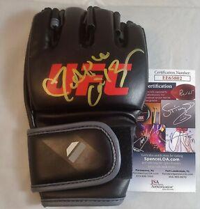 """ALPHA"" Cat Zingano Autographed Glove JSA COA 802 Signed UFC 178 184 200 MMA"