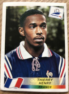 Panini France 98 World Cup Rookie Sticker - Thierry Henry - No 172 - Excellent!