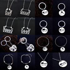 Mama Papa Bear Baby Necklace Keyring Bracelet Bangle Jewelry Pendant Parents Hot