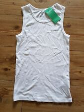 boys white vest H&M basic organic cotton 8-10 years New with tags