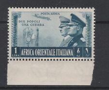 FRANCOBOLLI 1941 A.O.I. POSTA AEREA FRATELLANZA L.1 MNH Z/3354