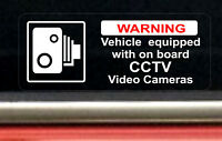 2 REVERSE Warning Stickers CCTV Video Camera Recording Car Vehicle Sign Safety +