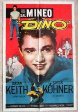 DINO ORIGINAL 1957 1SHT MOVIE POSTER FLD SAL MINEO EX
