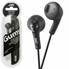 Genuine JVC HAF160 Black Gumy Bass Boost Stereo Headphones for iPod iPhone Mp3