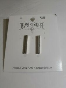 Sterling Silver Plated 25MM Bar Earrings The Jewelry Shoppe Made in USA GIFT