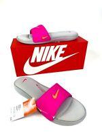 Nike Ultra Comfort 3 Slide Flip Flop Sandals Gray Pink AR447-006 Women's Size 12